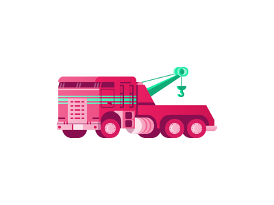 Tow Truck illustration icon truck