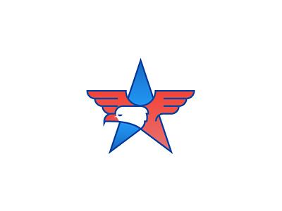 ill-eagle merica star illustration icon usa america eagle