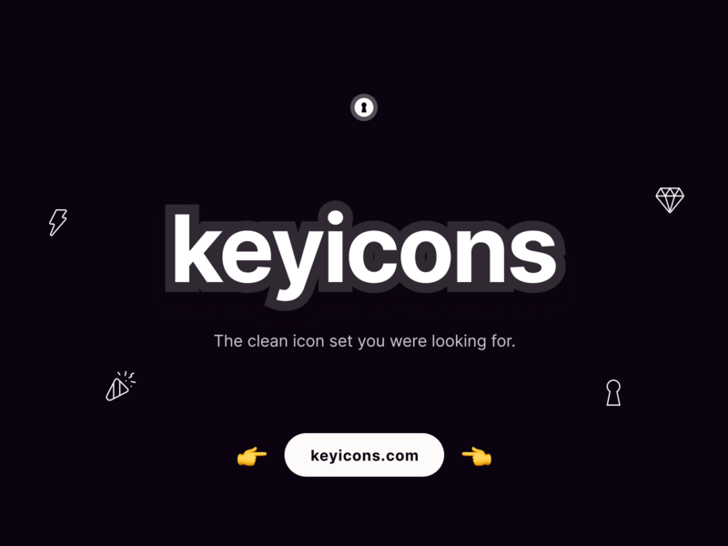 Keyicons - Redesigned icons set svg vectors figma sketch icons pack iconset icons keyicons