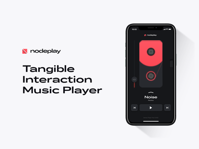 NodePlay ios neumorphism app player figma ui interaction concept