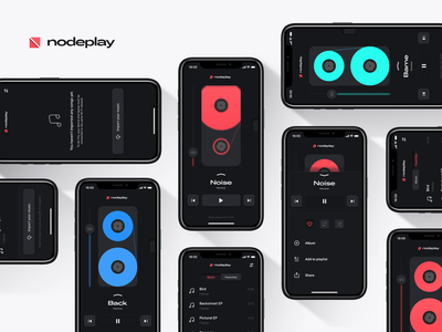 NodePlay prototype figma app neumorphism ios music interaction ui concept player