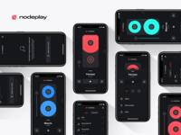 NodePlay prototype figma app neumorphism ios music interaction ui concept player