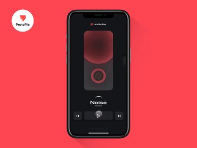 NodePlay | Prototype with ProtoPie 5.0 neumorphism player ios protopie prototype design app ui concept