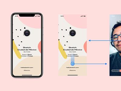 Capturing the moments interaction ui conceptui camera app prototype protopie sketch