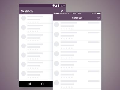 Skeleton UI - Android & Ios
