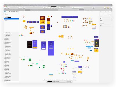 UI Design process badges coin gem loot interface assets ui design process wip sketch illustration
