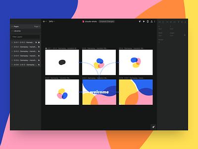 Spaces prototype concept ios app invision studio ui sketch motion interaction