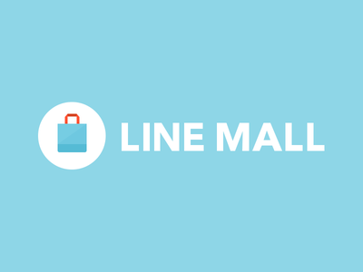 LINE MALL logo line mall linemall blue white light logo japan