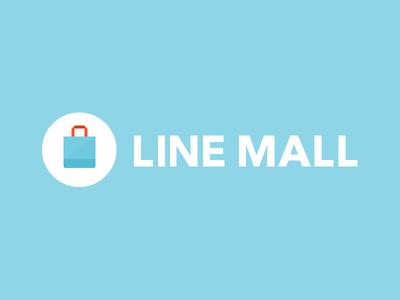 LINE MALL logo line mall linemall blue white light logo japan