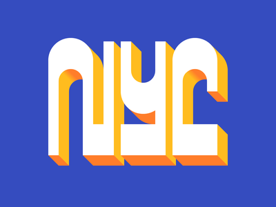 NYC new york lettering