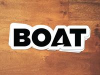 Boat sticker