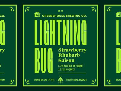 Lightning Bug Saison lightning bug typography packaging label beer firefly