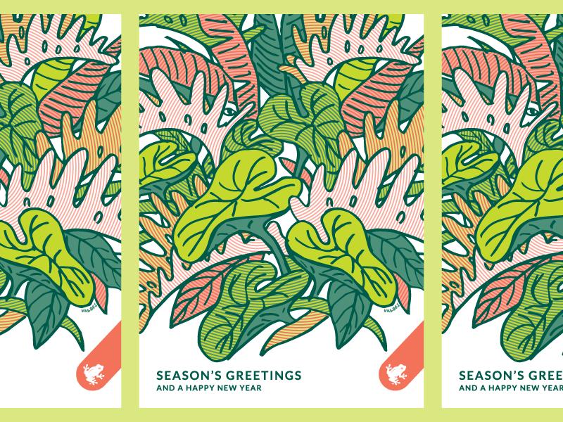 Jungle Bells, haha get it plant jungle illustration holiday card