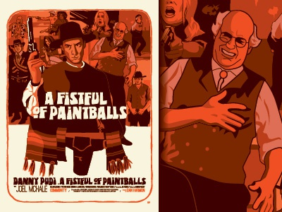 A Fistful of Paintballs final community poster illustration paintball western six seasons and a movie