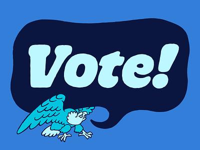 Vote! united states typography america vote illustration eagle