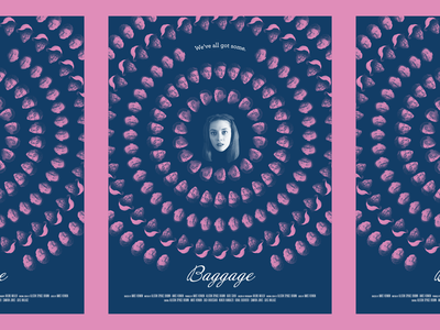 Baggage film typography poster