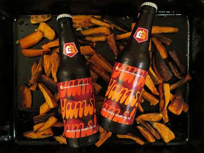 Yams! Yams! Yams! (feat. yams) packaging sweet potatoes yams typography label beer