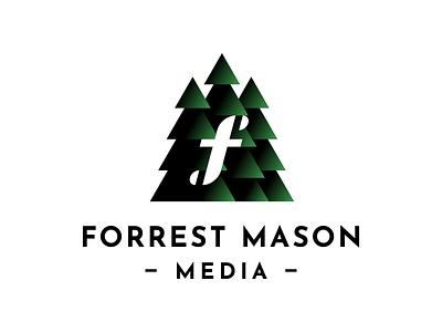 Forrest Mason Media forest tree logo typography