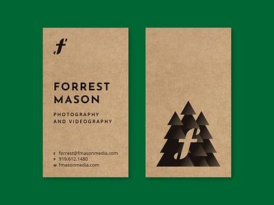 FMM biz card business card typography art tree logo forest