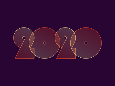 2020 new years numerals 2020 lettering