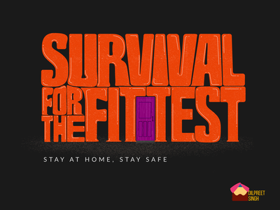 Stay At Home, Stay Safe social staysafe stayathome adobe illustrator typographic poster typographic illustration typography vector branding design illustration flat design covid covid19 covid-19