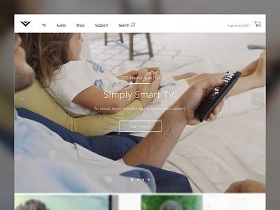 VIZIO.com Launched Today web design open sans ux ui wireframing repsonsive retina mobile vizio
