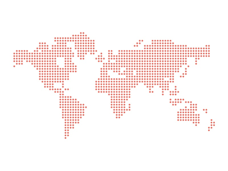 Dotted Vector World Map Fixed Ai By Greg Christian Dribbble