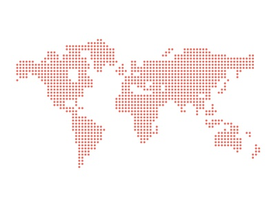 Dotted Vector World Map FIXED (.ai) world map vector freebie fee fribbble psddd free