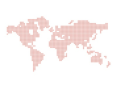 Dotted vector world map fixed by greg christian dribbble dotted vector world map fixed gumiabroncs Images