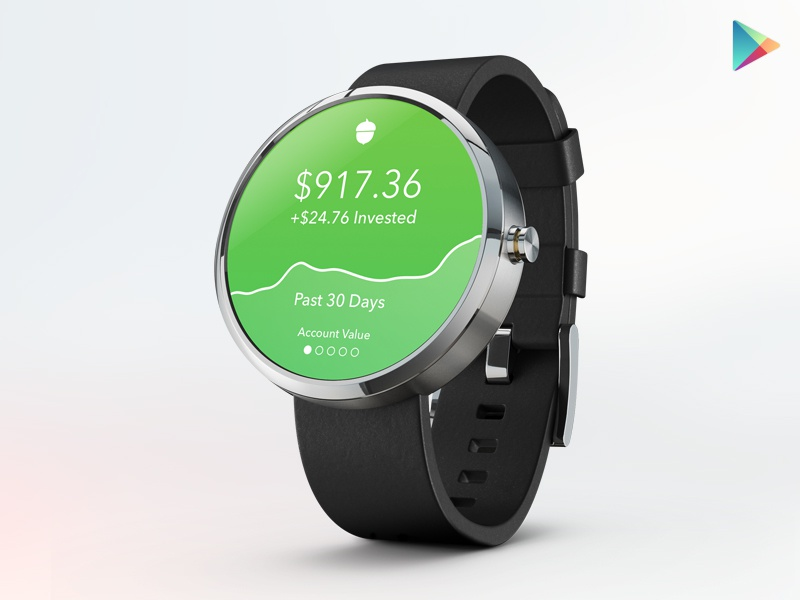 Acorns for Android Wear radical ux ui acorns mobile watch android wear