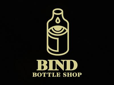 Bind Bottle Shop beer illustration logo