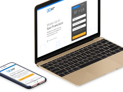 Sleep Bus Dot Co retina responsive desktop mobile sf startup lander website
