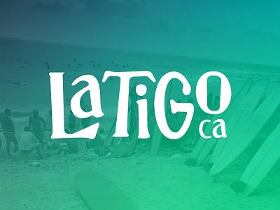 Latigo Logo rad illustrator california malibu coffee surf logo