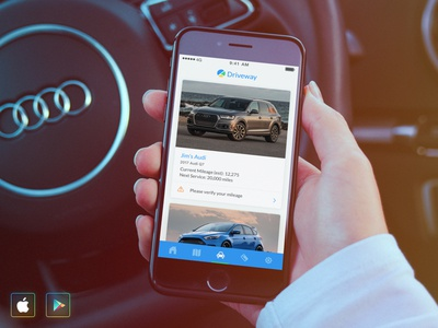 Driveway App for iOS & Android traffic speeding maps trips mobile cars automotive insurance app android ios