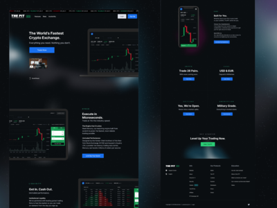 Blockchain - The PIT Marketing Site Design