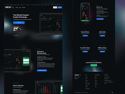 Blockchain.com - Crypto Exchange Marketing Site lander space blockchain crypto web responsive btc bitcoin exchange