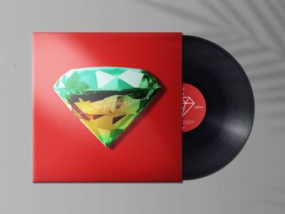 Vinyl Record Album Mock-Ups Vol.2 song cover album produce musical single mockup disk retro vintage lp vinyl