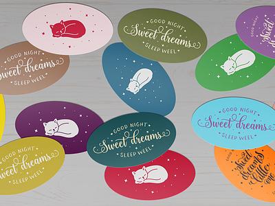 Ellipse Cards / Stickers Mock-Ups Vol.1 cardstock coaster temlate print label mockup showcase rounded sticker card oval ellipse