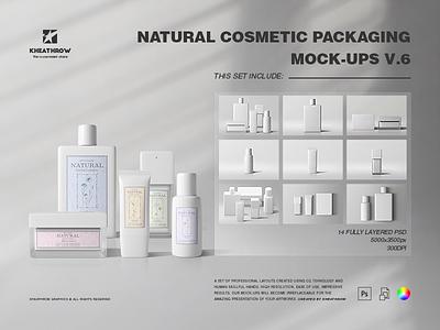 NATURAL COSMETIC PACKAGING MOCK-UPS VOL.6 mask spray parfum gel cosmetic package packaging scrub tube bottle jar mockups cosmetic
