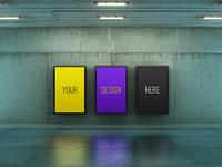 Poster Urban Subway Lightbox Mock-Ups