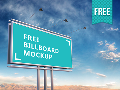 Free Psd Billboard Mockup advert editable display outdoor realistic advertisement banner psd mock-up mockup billboard free