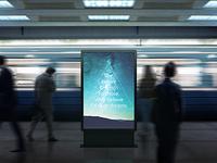 Poster Urban Subway Lightbox Billboards Mock-Ups