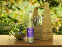 Grappa Bottle Packaging Mock-Ups