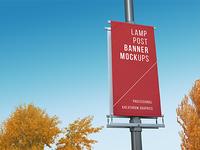 City Lamp Post Banners Mock-Ups