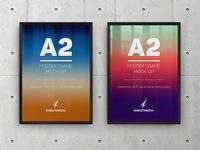 A2 Elegant Poster Frame Mock-Ups