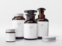 Natural Cosmetic Packaging Mock-Ups