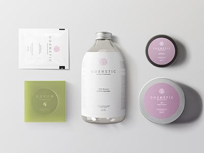 Natural Cosmetic Packaging Mock-Ups vol.2 branding showcase cosmetic bottles soap mock up body care jars bottle packaging aluminum mockups cosmetic