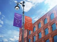 City Lamp Post Banners Mock-Ups Vol.2