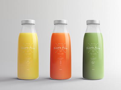 Juice Bottle Packaging Mock-Ups Vol.1 presentation fresh drink label realistic glass glossy package simple bottle mockup bottle juice