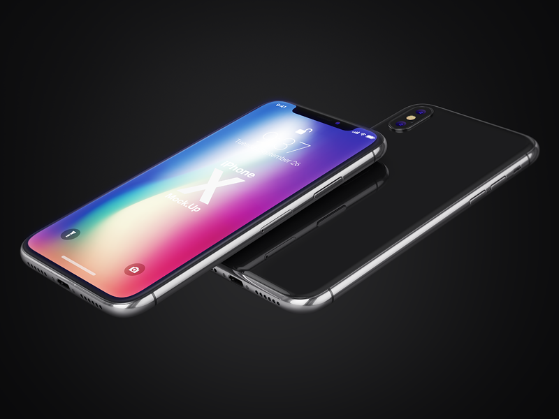 iPhone X Realistic Mock-Ups interface display screen retina ux ui design presentation showcase smartphone iphone x mock-up apple app